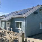 blue newly built house
