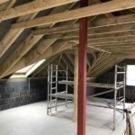internal view of loft conversion in progress