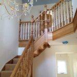 wooden stair case fitted by j and s building contractors